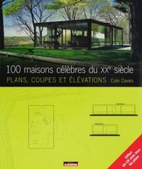 100 maisons célèbres du 20e siècle : Plans, coupes, élévations (1Cédérom)
