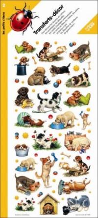 Transferts-décor les petits chiens