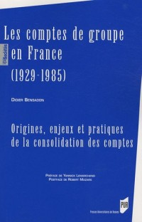Les comptes de groupe en France (1929-1985) : Origines, enjeux et pratiques de la consolidation des comptes
