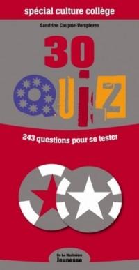 30 quiz spécial culture collège