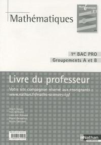 Mathématiques 1e Bac pro Groupements A et B : Livre du professeur, programme 2010