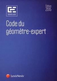 Code du géomètre-expert 2015
