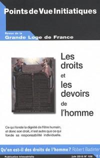 Points de Vue Initiatiques, N° 156, Juin 2010 : Les droits et les devoirs de l'homme