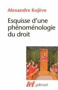 Esquisse d'une phénoménologie du droit