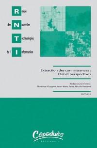 Revue des Nouvelles Technologies de l'Information, E-5 : Extraction et gestion des connaissances : état et perspectives
