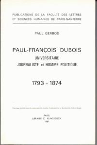 Paul-François Dubois (1793-1874) universitaire