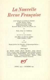 La N.R.F., numéro 292, avril 1977