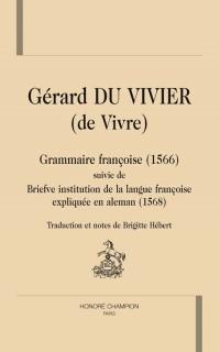 Grammaire française: brève institution de la langue française