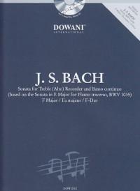 Dowani BACH J.S. - SONATE EN FA MAJEUR - FLUTE A BEC ALTO, BASSE CONTINUE Partition classique Bois Flûte à bec