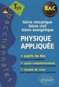 Physique Appliquee Terminale Sti Génie Mécanique Génie Civil Génie Energétique