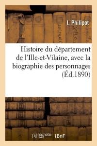 Histoire de l Ille et Vilaine  ed 1890