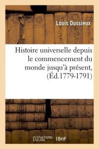 Hist Commencement du Monde  ed 1779 1791