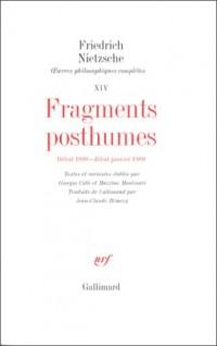 Fragments posthumes, début 1888-1889
