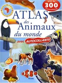 Atlas des animaux du monde avec autocollants