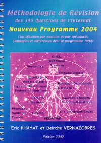 Méthodologie de révision des 345 questions de l'internat : Classification par modules et par spécialités, analogies et différences avec le programme 1998