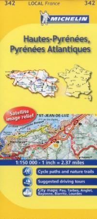 Michelin Map France: Hautes-pyrnes, Pyrnes Atlantiques 342