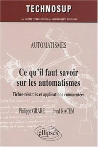 Ce qu'il faut savoir sur les automatismes : Niveau A