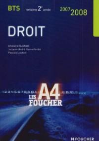 DROIT BTS 2EME ANNEE ED 2007-2008 (Ancienne édition)
