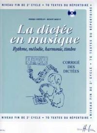 La dictée en musique Volume 6 - corrigé