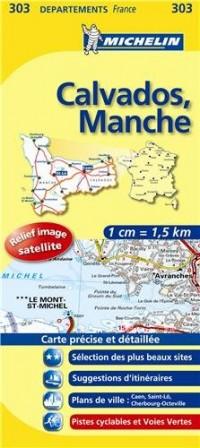 Carte DPARTEMENTS Calvados, Manche