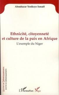 Ethnicite Citoyenneté et Culture de la Paix en Afrique