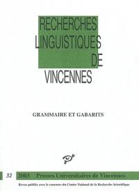 Grammaire et gabarits