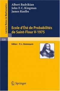 Ecole D'ete De Probabilites De Saint-flour V, 1975/ Probability Summer School in Saint-flour V, 1975