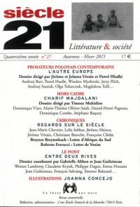 Revue Siecle 21 N27