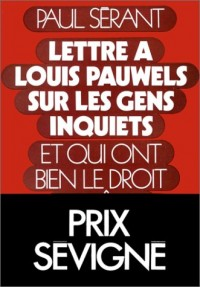 Lettre à Louis Pauwels