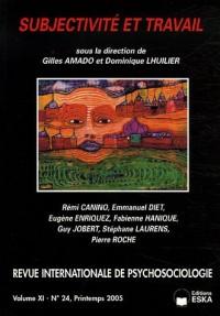 Revue internationale de psychosociologie, N° 24, Printemps 200 : Subjectivité et travail