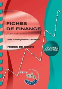Fiches de Finance - Ue 2 du Dscg