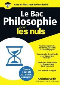 Bac Philosophie 2018 Pour les Nuls
