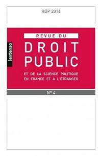 Rdp - Revue du Droit Public et de la Science Politique en France et a l'Étranger N 4-2016