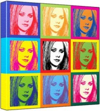 Avril Lavigne - Pop Art Print (3-Tone; Andy Warhol's Che Guevara Style) 50 x 50 x 2 cm Large Square Deep Box Canvas