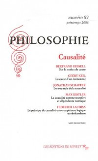 Philosophie, N° 89, Mars 2006 : Causalité