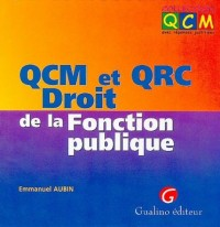 QCM et QRC Droit de la Fonction publique