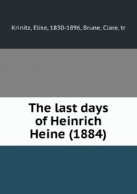 The last days of Heinrich Heine (1884)