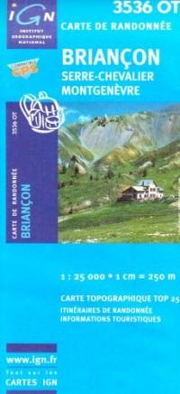 Carte de randonnée : Briançon - Serre Chevalier
