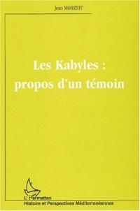 Le kabyles propos d'un témoin