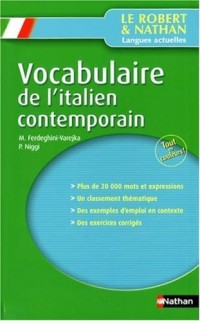 Vocabulaire de l'italien contemporain