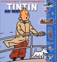 Tintin en mer (autocollants repositionnables)