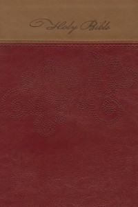 Giant Print Reference Nkjv Bibe: Red and Tan Leathersoft