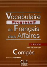 Corriges Vocabulaire Progressif du Français des Affaires Niveau Intermediaire