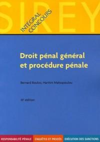 Droit pénal général et procédure pénale