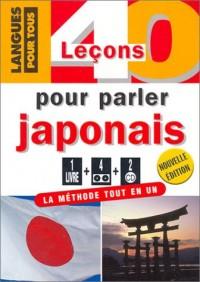 40 leçons pour parler japonais (1 livre + coffret de 4 cassettes + coffret de 2 CD)