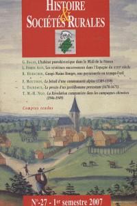 Histoire et sociétés rurales, N° 27