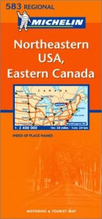 Carte Regional Northeastern USA, Eastern Canada