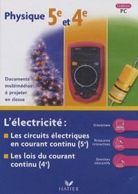 Physique 5e et 4e : L'électricité : les circuits électriques en courant continu ; Les lois du courant continu CD-ROM