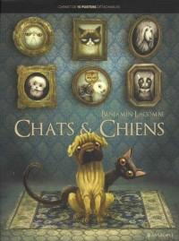 Chats et chiens : Carnet de 15 posters détachables