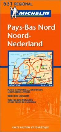 Carte routière : Noord-Nederland - Pays-Bas Nord, N° 11531 (en néerlandais)